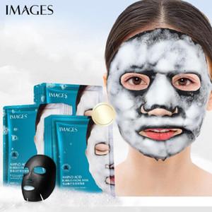 Immagini Amino Acid carbone di bambù Bubble maschera pori profondi Clean nero Testa comedone Trattamento Black Mask della pelle del viso Cura