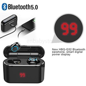 Headphone Wireless Upgraded Bluetooth Version New Hbq Q32 Led Display Tws True Wireless Earphone Bluetooth 5.0 Headset With Mic Mini Earbuds