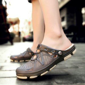 Summer Flat Beach Sandals Hole Sandals Extra Large Couple Shoes Fat Feet Wide Feet Fat With Sandals And Slippers