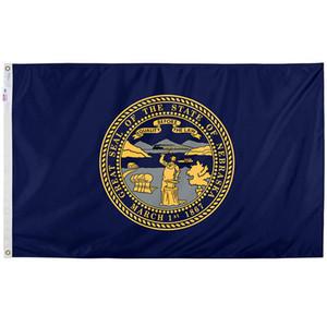 Nebraska Государственный флаг Баннеры для цифровой печати 100% полиэстер висячие реклама Наружная использования в помещении, свободная перевозка груза, перевозка груза падения