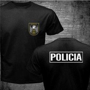 España Policía España España UPR Cool Goes Policía CNP UIP National Anti Riot Swat Men España Plomo Top Forces Tizas Policía Camiseta Geo Urndp