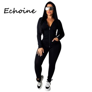 Fashion Hooded Two Piece Set Jogging Femme Zipper Top + Pants Suit Sportwear Tracksuit Women Outfits Solid 7 Color Plus Size