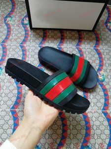 xshfbcl Hot sale Marca progettista men women slipper beach slide mens striped sandals causal non-slip summer huaraches slippers flip flops