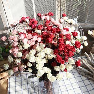 Decoración de la boda Rose Bouquet 50cm PE Fake Flower Bouquet 15 Rose Flowers Flor artificial Decoración del hogar Artículos de fiesta DBC VT0536
