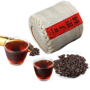 Китайский пуэр Старый чай Глава 500г Спелая Пуэр Черный чай Старый Пуэр Приготовленные Старый Деревья пуэр Здоровый зеленый еды бамбуковые корзины упаковка