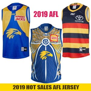2019 West Coast Eagles Guernsey Adelaide Krähen Weste Trikot Eddie Betts 300. ärmellose Australian Rules Football AFL Trikots Größe S-3XL