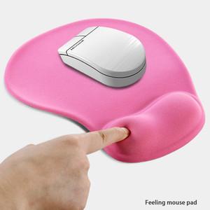 Büro Mousepad mit Gel Handgelenkstütze Ergonomic Gaming-Desktop-Mausunterlage Handgelenkauflage Design-Gamepad-Matte Gummiunterseite für Laptop Comquter S