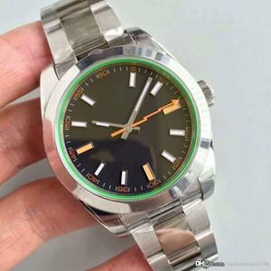 2019 La montre classique faite par le haut maître MILGAUSSm116400 mécanisme automatique 40mm en acier inoxydable de la montre de la mode hommes