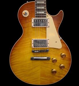 Özel Mağaza 60. Yıldönümü Yavaş Çayları Fade Vos Çin Yapımı Guitar 1959 Standart Elektro Gitar