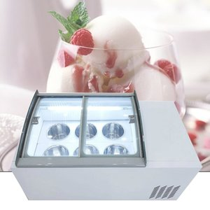 110V 220V Desktop ice porridge cabinet commercial ice cream display cabinet for cold drinks shop store supermarket ice cream display cabinet