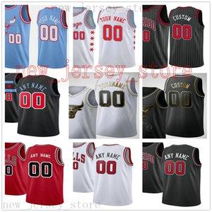 Personalizado impreso jerseys de calidad superior Nueva Ciudad Azul Rojo Negro Jersey oro blanco. Cualquier mensaje de número y nombre en orden