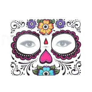 Tek Göz Farı Sticker Magic Göz Yüz Dantel Stil su geçirmez Geçici Dövme İçin Güzellik Kozmetik Makup Sahne Cadılar Bayramı Partisi RRA1105