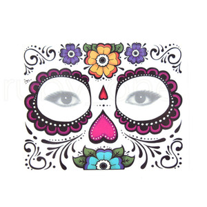 Lace Estilo Rosto Eye descartável Eyeshadow Etiqueta Mágica impermeável Tatuagem Temporária para Halloween Party Stage Beauty Cosmetic Makup RRA1105