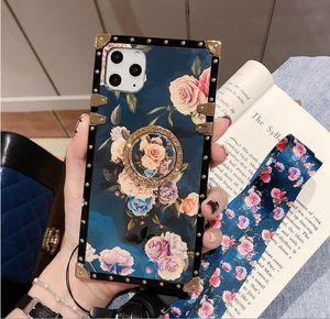 Designer Luxus Pfingstrosenblume Telefonkästen für Iphone X Xr Xs Max 11 Pro 8 7 Plus-Samsung S20 Ultra-S10 note10 A50 A70 A51 A71 Silikonabdeckung