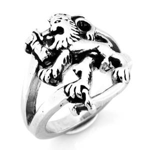 FANSSTEEL НЕРЖАВЕЮЩАЯ СТАЛЬ МУЖСКИЕ ЮВЕЛИРНЫЕ ИЗДЕЛИЯ PING RING VINTAGE RING FILAND LEO LION SIGNET ЖИВОТНЫЙ БАЙКЕР КОЛЬЦА ПОДАР ДЛЯ БРАТЬЕВ FSR10W11