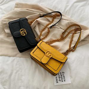 مصمم جوكر الترفيه يميل الكتف نماذج انفجار حقيبة الصيف موضة جديدة حقيبة Lingge صغيرة اللسان مربع سلسلة قطري حقائب اليد PU