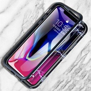 Дизайнерский магнитный телефон из закаленного стекла для IphoneX / XS XR XSMAX 7P / 8P 7/8 6P / 6sP 6 / 6s Популярный чехол для iPhone