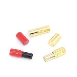 9mm Plastic Empty Lipstick Tube High Quality Lip Bottle Round Cosmetic Packing Container Red Lip Stick Tube 50Pcs Lot