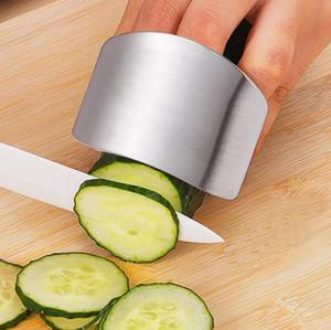 Dedo protector del dedo Protect corte de la mano de la mano del protector de cuchillo Cortar la protección del dedo herramienta de la cocina de acero inoxidable Herramienta Gadgets regalo Envío gratuito