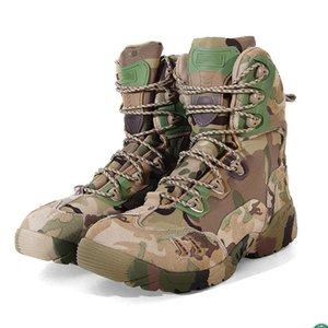 Camouflage Outdoor Boots Men's Army Combat Tactical Boot Shoes Hiking Sport Ankle Shoes Mountain Climbing Boots Autumn