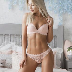 Marca Vs 2019 Nuevos Íntimos Sexy Conjunto Ropa Interior de Encaje Libre de Encaje Lencería Push Up Bralette Cómodo Sujetador Y Panty Conjuntos C190420