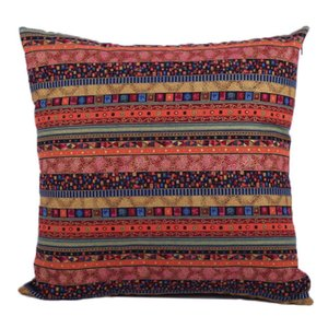 Decorative Bohemian Style Cushion Cover Throw Pillows Case Shell Red for Bed Couch Livingroom, 18 X 18 Inches (Bohemia) Pillow Case