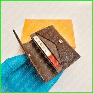Envuelto Carte de Visite N63338 Diseñador Moda Hombres Moneda Moneda Tarjeta de Crédito Tarjeta de Entrada Titular de Tarjeta de Tecla Luxury Pocket Organizer Wallet M63801