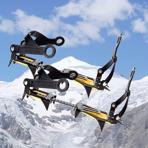 얼음 클리트 스테이플 산악 도로 등산 등산 호랑이 모양