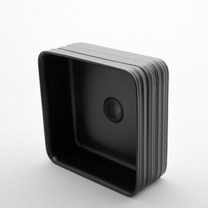 Art Sinks Bathroom Bacia Modern Vessel Ceramic Black White Lavatory Sink lavagem bacia quadrada Com purga suave Mangueira