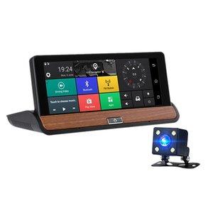 Center Console Navigator Dual Lens Hd Noite Electronic Dog 7 polegadas Driving Recorder Bluetooth Modelo: 681 Com Invertendo DVR carro Photogr