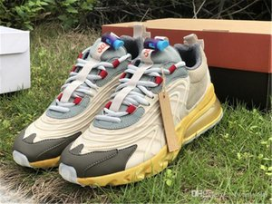 Nuovi Travis Scott Air Authentic 270 Reagire Cactus Trails Maxs pattini correnti degli uomini Donne Cactus Jack Cream Dark Light Hazel CT2864-200 Sport
