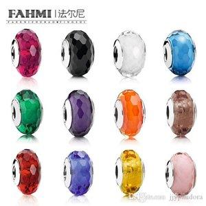 Donia% 100 925 Gümüş Kesme Büyüleyici Murano Cam Boncuk Büyüleyici Charm Çok renkli yerleştirilebilecek DIY Bilezik Takı Yapımı