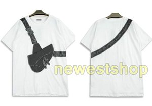 20SS nuevo verano de gama alta camiseta para hombre del palmo de inclinación silla bolsa de impresión de la camiseta camisetas casuales de la calle principal de manga corta de los hombres de las mujeres diseñador de la camiseta