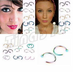 New Nose Rings Body Piercing Jewelry Fashion Jewelry Stainless Steel Nose Hoop Ring Earring Studs Fake Nose Rings Non Piercing Rings 2937