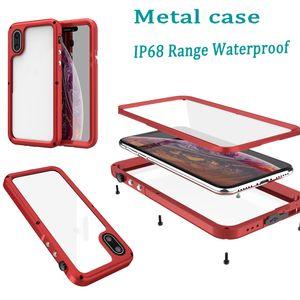 qualidade Ceia de metal impermeável caso à prova de choque sujeira prova Water Resistant Metal Armor Capa para iPhone x xr xs max iphone 11