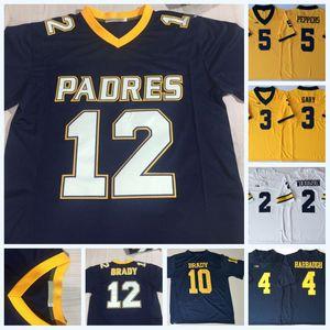 Dikişli Pedleri 12 Tom Brady NCAA Michigan Wolverines Forması Charles Woodson Patterson Rashan Gary Desmond Howard Koleji Futbol Forması