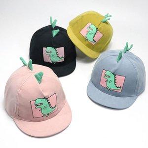 Весна Лето Дети Hat мультфильм Динозавр Baseball Cap Для девочек Для мальчиков Регулируемое Baby Дети ВС Cap Hip Hop Hat For 1-6Year Isocx