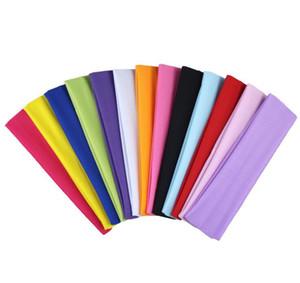 Nouveau groupe de tête de mode sport extensible ruban lait tissu bandes de cheveux de yoga pneu sport extérieur motard bandeau large Hairband élastique fille / femmes