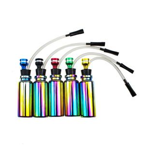 Mini Shisha narguile Tubos tubo de metal de hielo azul deslumbra el color de cristal del filtro tubo para fumar Cachimbas Herramientas fácil de limpiar 7yn E1