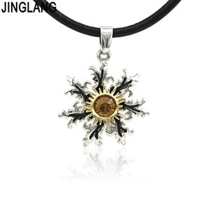 JINGLANG New Trendy Personality Stainless Steel Necklace Women Men Necklaces Round Pendant Jewelry