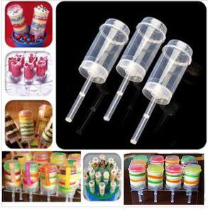 Date Cake Push Pop Containers Cuisson Addict bareware Effacer Push-Up Cake Pop Shooter (Push Pops) Contenants En Plastique dc630