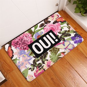 15 styles Lovely Print Carpets anti-slip Floor Mat indoor Rugs Front Door Mats 30pcs lot T2I344