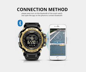 2020 Men Digital Wrist watches LED Display SMAEL Watch for male Digital clock Men Sport Watches Big Dial 8018 Wtaerproof Men Watches