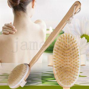 100% натуральная кабана съемная длинная ручка деревянная сухая ванна задняя кисть отшелушивающая ванна кисть DA140