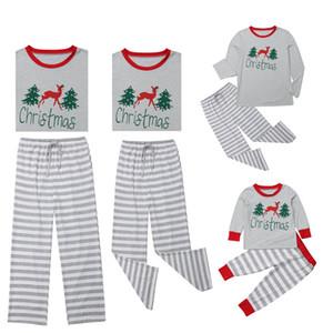 Corrispondenza Famiglia Abbigliamento Outfits Natale Donne Pigiama Baby Set di Natale per adulti bambini Cotton Top Pantaloni Sleepwear Pigiami famiglia