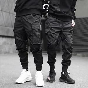 조깅 힙합 블랙 스트리트 바지 패션 남성 멀티 포켓 디자인 신축성있는 펑크 바지 바지 S-3XL 높은 품질의 남성 의류
