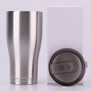 20 oz 30 oz moderna curvo Cup Tumbler con coperchio scivolato doppia parete in acciaio inox vuoto isolato viaggio tazza di acqua tazza