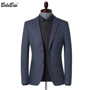 A strisce Moda Uomo Blazer BOLUBAO marca degli uomini Stampa Primavera Autunno Giacca affari Casual stile maschile Blazers formali