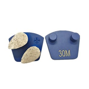 Hard Metal Bond Diamond Plug N Go Grinding Shoes Werkmaster Plug Diamond Floor Grinding Segment For Concrete Floor 12PCS