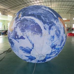 شحن مجاني 4M أفضل نوعية الجملة نفخ ضوء غلوب الإعلان ضوء الكرة الشمسية كوكب قابل للنفخ الكرة خريطة العالم للبيع